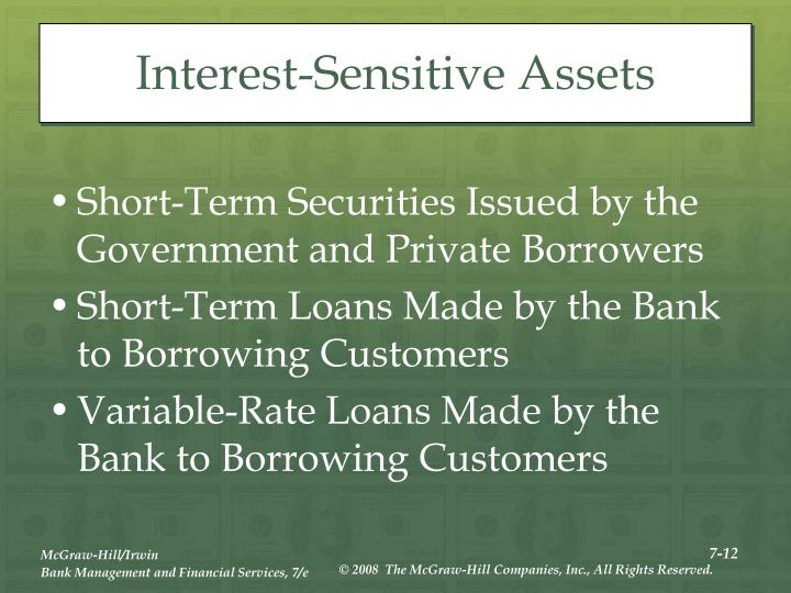 Interest-Sensitive Assets