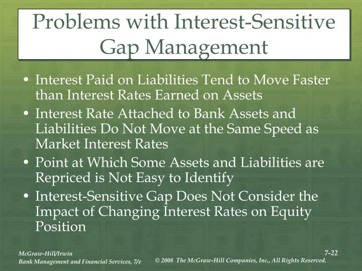 Problems with Interest-Sensitive Gap Management