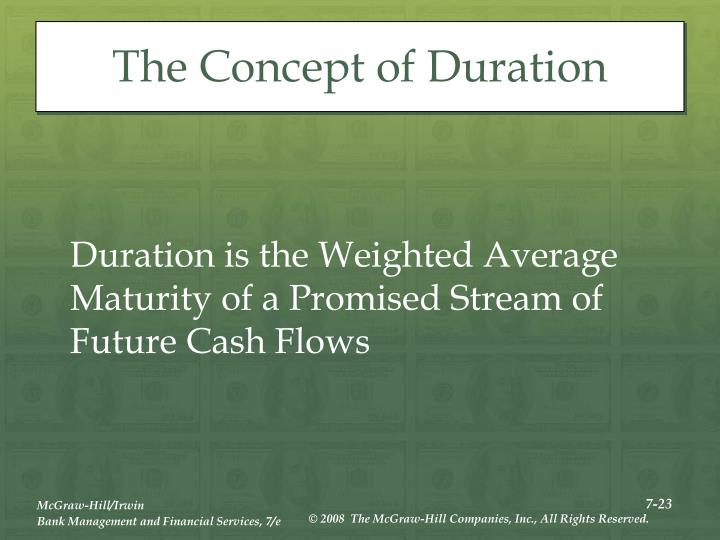 The Concept of Duration