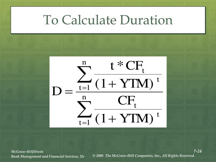 To Calculate Duration