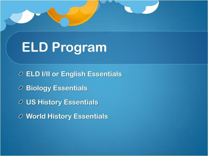 ELD Program