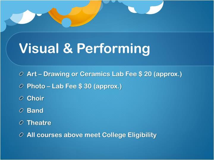 Visual & Performing