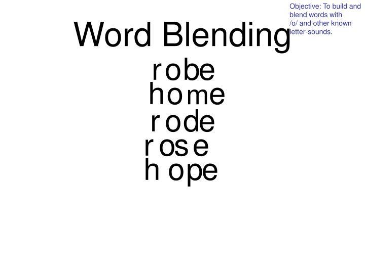 Word Blending