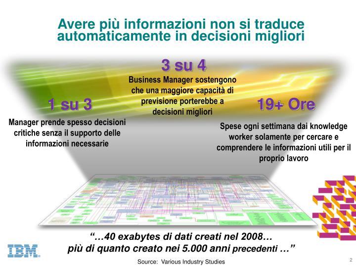 Avere più informazioni non si traduce automaticamente in decisioni migliori