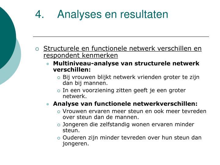 4.Analyses en resultaten