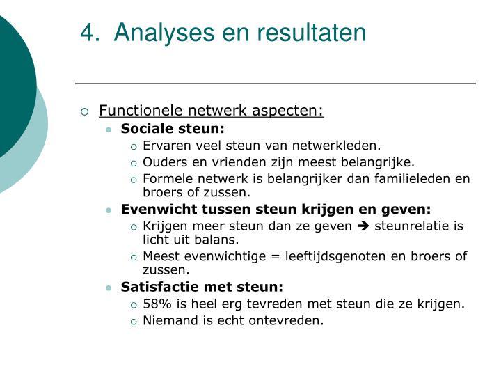 Analyses en resultaten