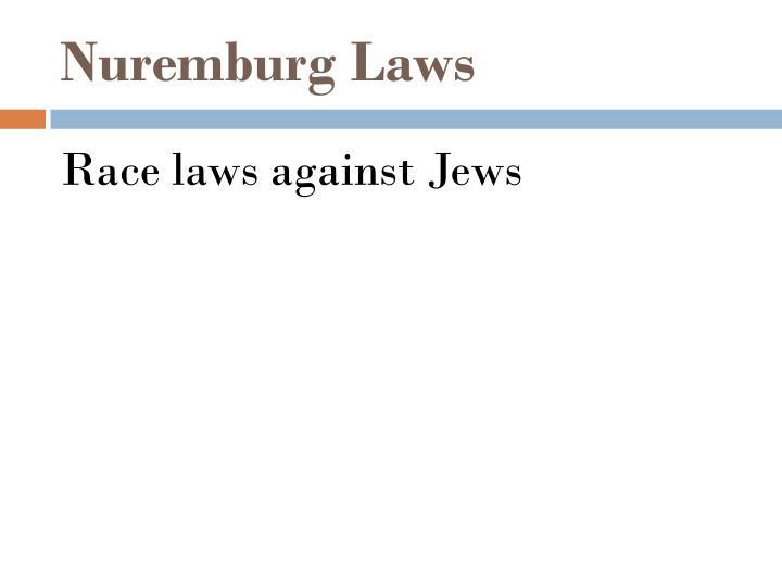 Nuremburg Laws