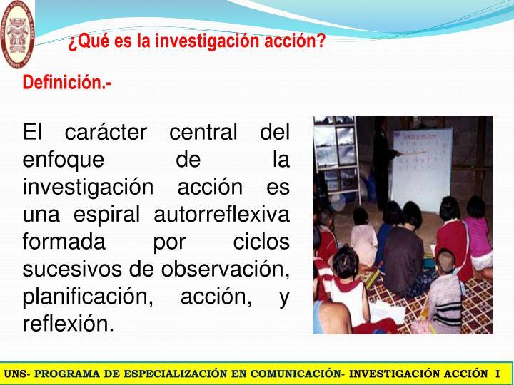 ¿Qué es la investigación acción?