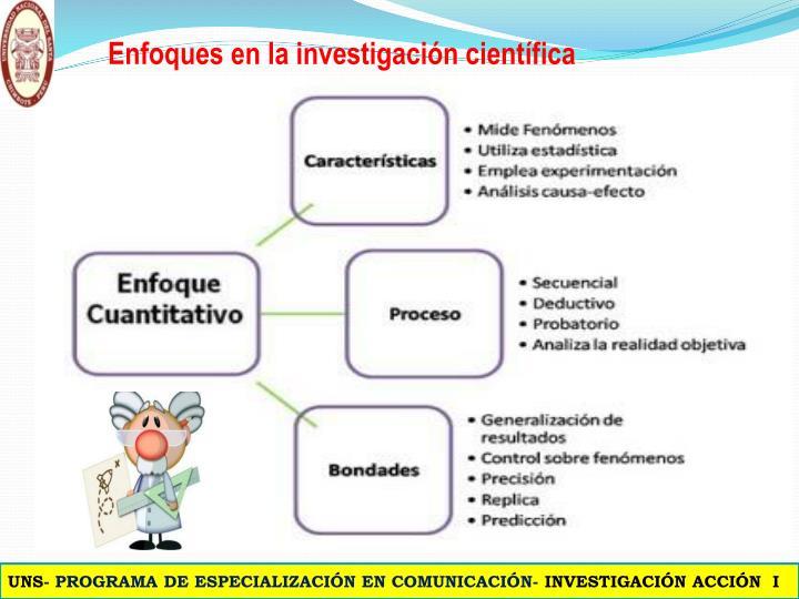 Enfoques en la investigación científica