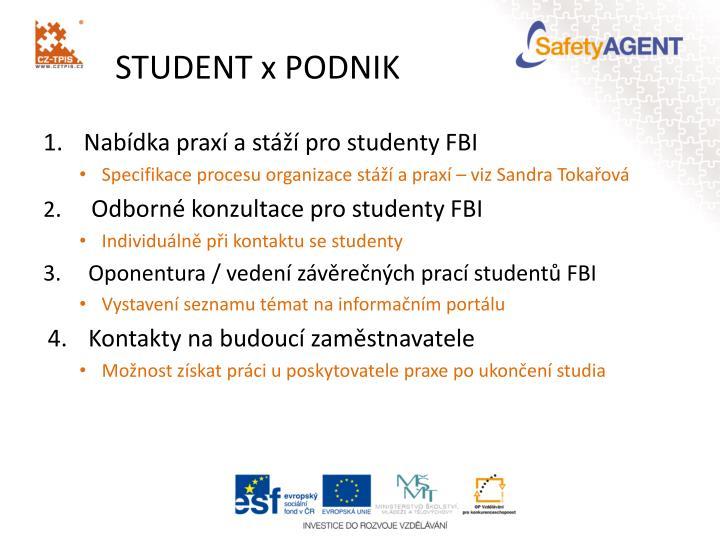 STUDENT x PODNIK