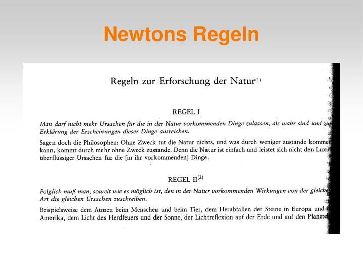 Newtons Regeln