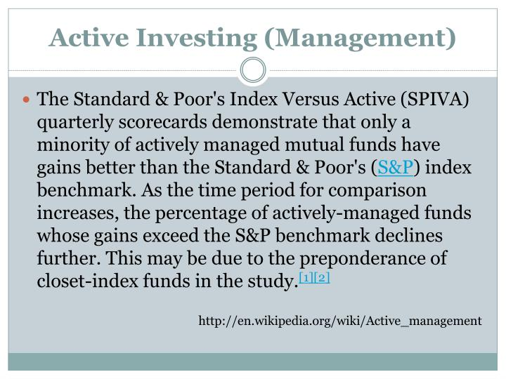 Active Investing (Management)
