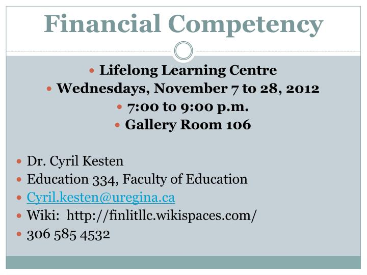 Financial competency