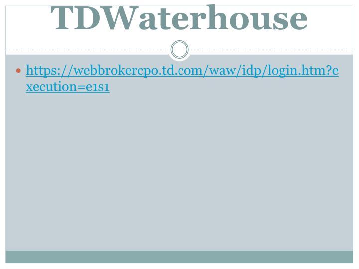 TDWaterhouse