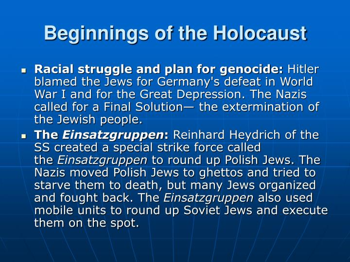 Beginnings of the Holocaust