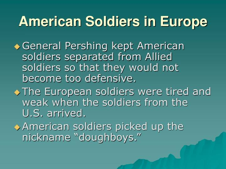 American Soldiers in Europe