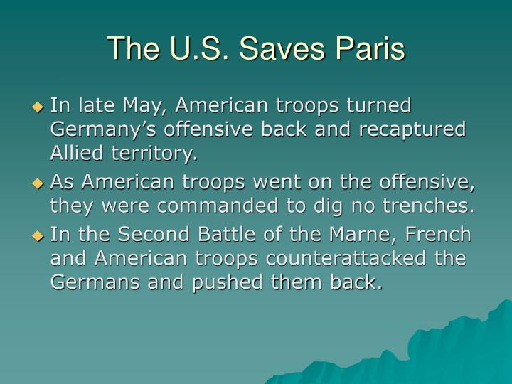 The U.S. Saves Paris