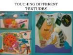 touching different textures