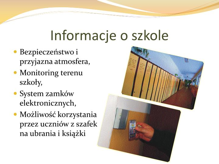 Informacje o szkole