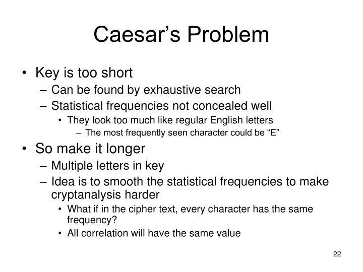 Caesar's Problem