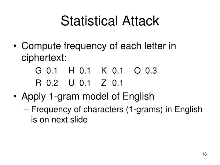 Statistical Attack