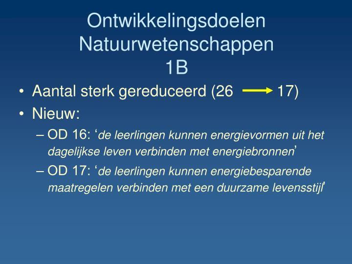 Ontwikkelingsdoelen Natuurwetenschappen