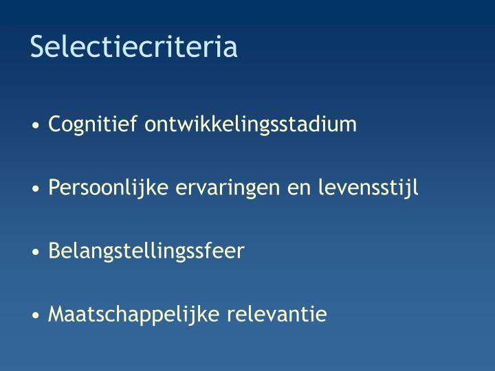 Selectiecriteria