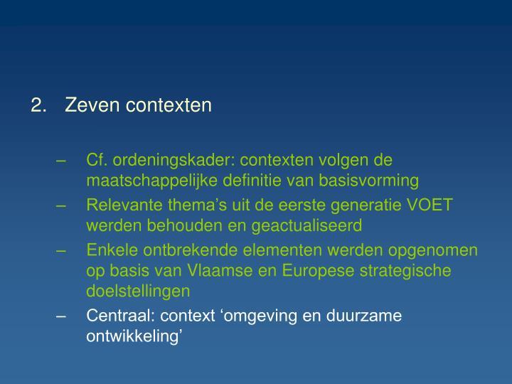 Zeven contexten