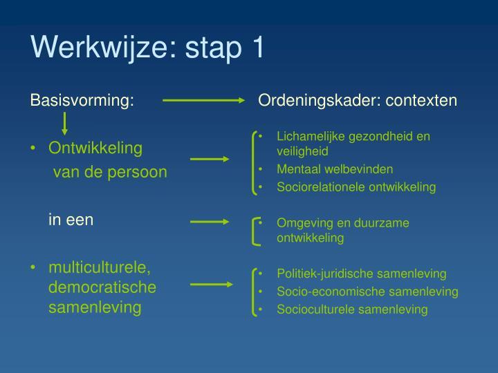Werkwijze: stap 1