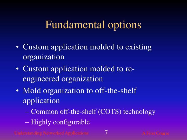 Fundamental options