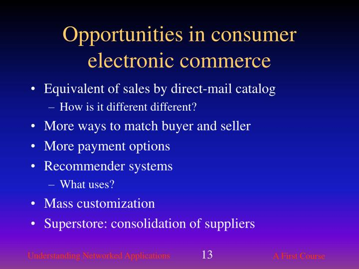 Opportunities in consumer electronic commerce