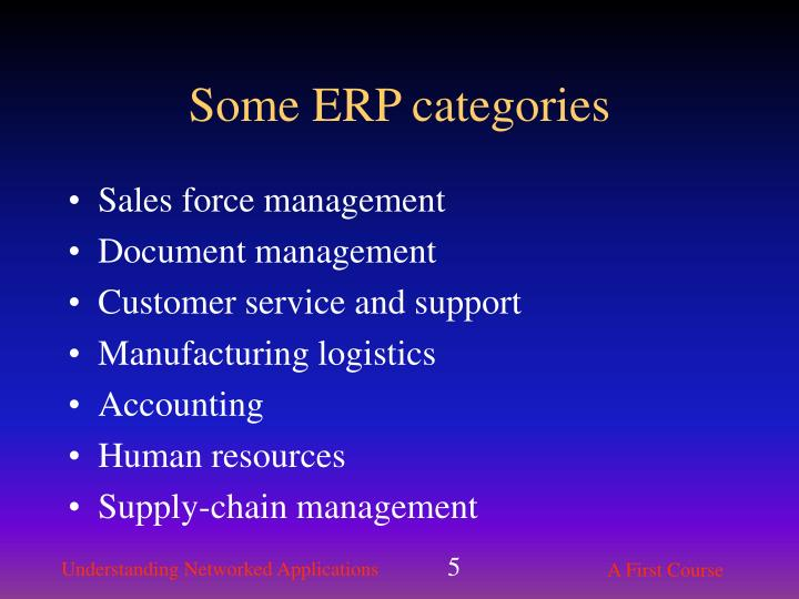 Some ERP categories