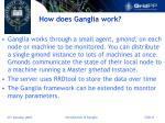 how does ganglia work