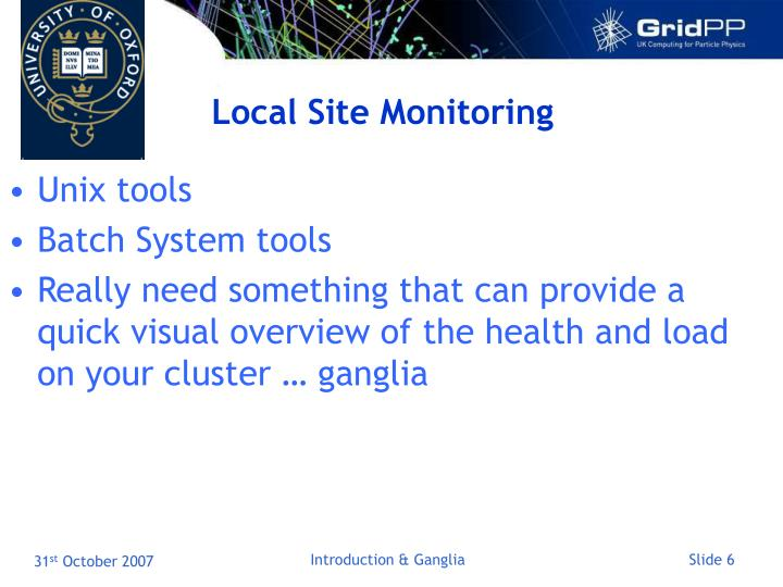 Local Site Monitoring