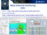 many external monitoring sites