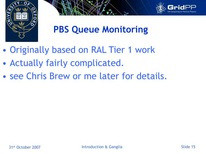 PBS Queue Monitoring