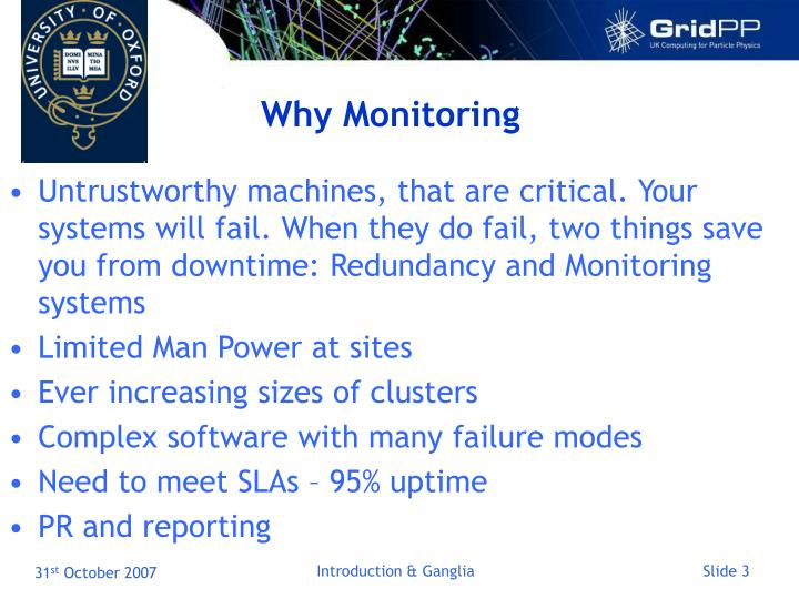 Why Monitoring