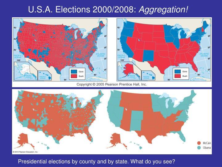 U.S.A. Elections 2000/2008: