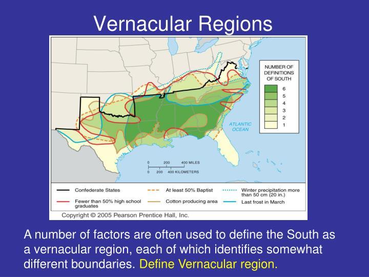 Vernacular Regions