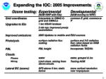 expanding the ioc 2005 improvements