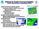 national air quality forecast capability initial operational capability ioc