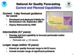 national air quality forecasting current and planned capabilities