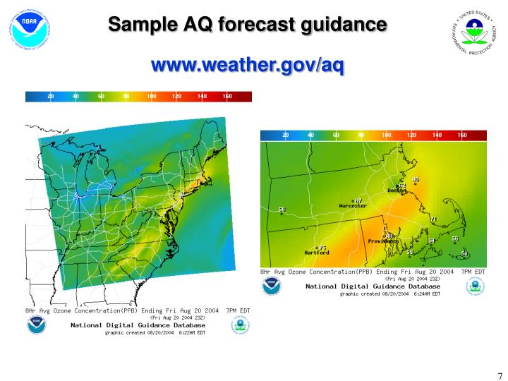 Sample AQ forecast guidance