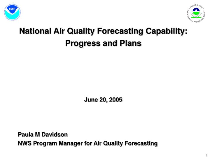 National Air Quality Forecasting Capability: