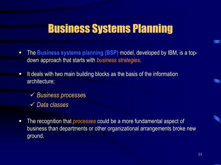 Business Systems Planning