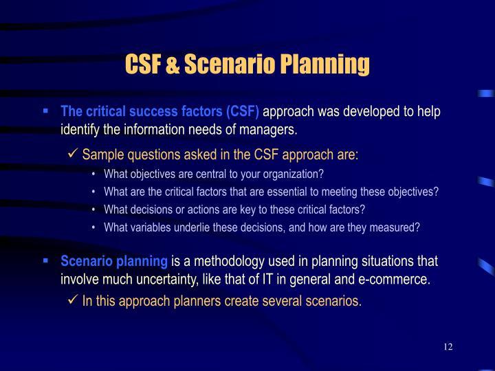 CSF & Scenario Planning