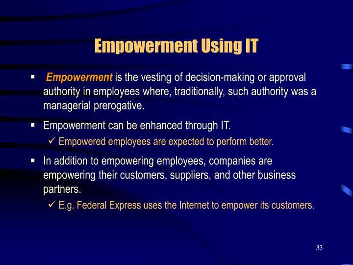 Empowerment Using IT