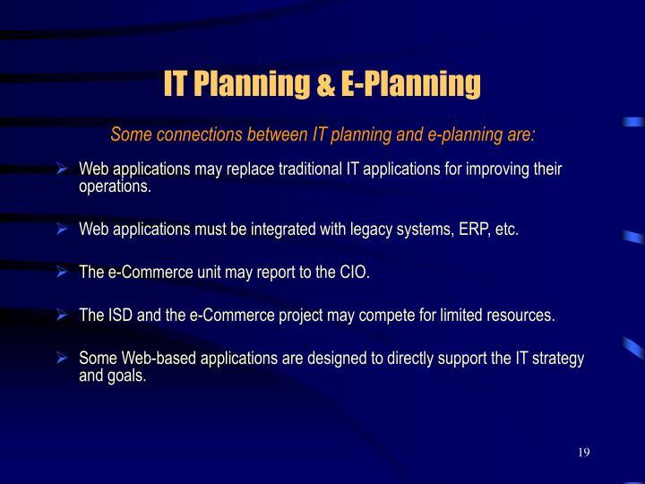 IT Planning & E-Planning