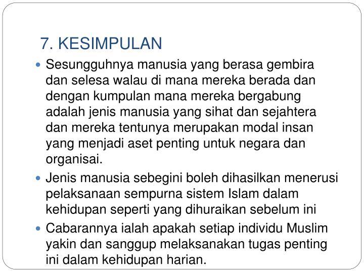 7. KESIMPULAN