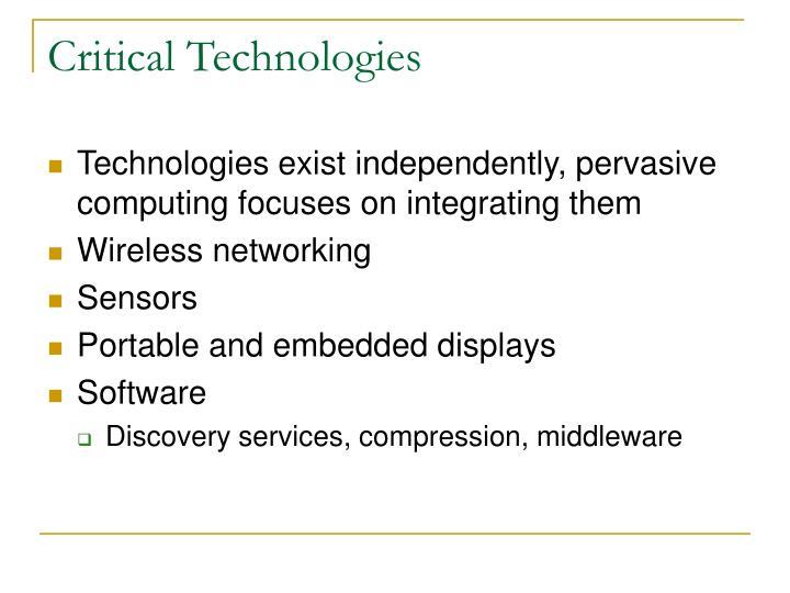 Critical Technologies
